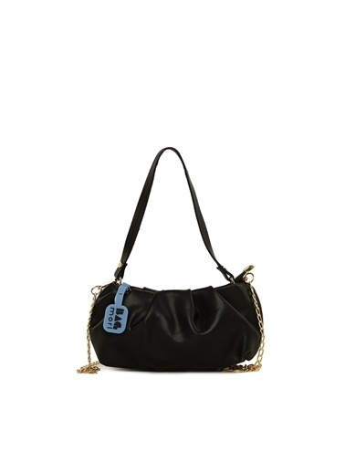 Bagmori  Kadın Pilili Mini Askılı Çanta M000006094 Siyah